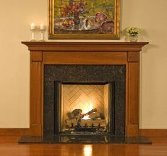 found this style of mantel I like for our new gas fireplace