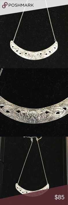 Silpada A Head of the Curve Necklace Oxidized sterling silver. Adjusts from 16 to 18 inches. Silpada Jewelry Necklaces