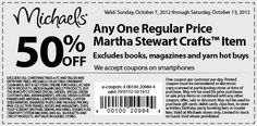 Enjoy 50% off on Martha Stewart Crafts items at Michaels - only through October 13th! @michaelsstores