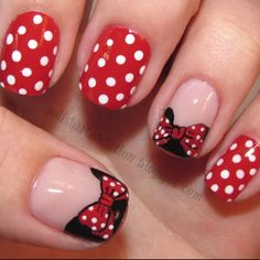 Minnie Mouse! want to try this on my toes