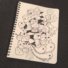 Kawaii sketchbook doodles - from thethumbprint