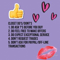 CLOSET RULESREAD ME 1st I Questions! (DO feel free to ask ?'s Before you buy). I am willing to take add'l photos, but please respond in kind. I Bundling! (DO buy multiples; you'll get discounts)! My items are clean/pressed prior to shipping. (I do have pets but closet is OFF-limits to them). Smoke-free home. I DO SHIP Same/Next day! (Unless Sunday). DO feel free to OFFER/Negotiate (always willing to give you a good deal)! DON'T ask for TRADES (I am selling only). DON'T ask for off-line…