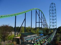 This is the theme music for Kingda Ka, an Intamin strata coaster, at Six Flags Great Adventure. When Kingda Ka opened it was the tallest and fastest roller c. Crazy Roller Coaster, Fastest Roller Coaster, Best Roller Coasters, Kingda Ka, Six Flags Great Adventure, Greatest Adventure, All Disney Parks, Amusement Park Rides, New Jersey