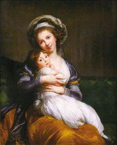 Madame Vigee-Lebrun and her daughter, Jeanne Lucia (Julie) - Élisabeth Vigée Le Brun - Wikipédia