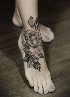 foot tattoos for women ideas designs roses