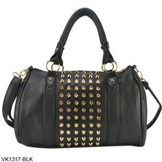 3 Color New Free Shipping 2013 Fashion PU Leather Ladies Handbags Stud Women's Handbag Rivet Shoulder Bags VK1317