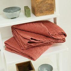 Canyon Rose Washed Waffle Bath Towel