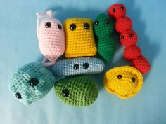 Crocheted microbes!