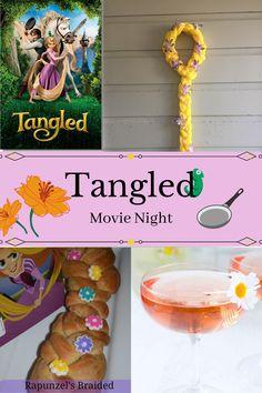 Movie Night Party, Family Movie Night, Movie Nights, Rapunzel Braid, Disney Rapunzel, Disney Inspired Food, Disney Food, Braided Bread, Braided Hair