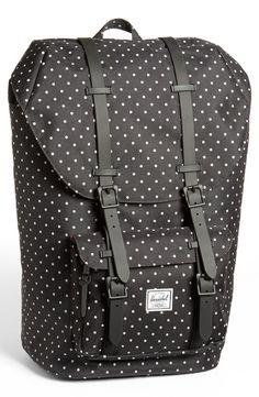 Herschel Supply Co. Little America Backpack in Black for Men (Black Polka Dot)