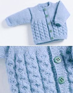 Baby Cardigan with Cables - Free Pattern - Free Knitting Patterns Baby Knitting Patterns Free Newborn, Baby Cardigan Knitting Pattern Free, Baby Sweater Patterns, Knitted Baby Cardigan, Knit Baby Sweaters, Easy Knitting, Baby Patterns, Cardigan Pattern, Baby Pullover Muster