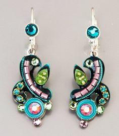 Fashion Artistic Jewelry #Earrings multicolor by Bluenoemi on Etsy, $64.00