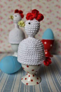 En kreativ verden: Hæklet høne som æggevarmere. DIY