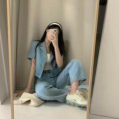 Korean Girl Fashion, Ulzzang Fashion, Kpop Fashion Outfits, Korea Fashion, Asian Fashion, Tokyo Fashion, Street Fashion, Korean Casual Outfits, Korean Outfit Street Styles