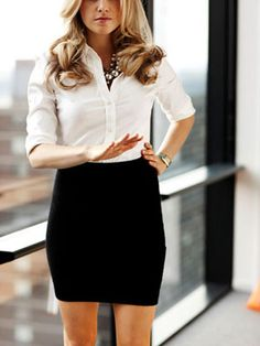 """Hold on. You don't know what I have on underneath this white button up and black pencil skirt!"" Sexy Empowerment"