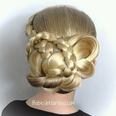 Gorgeous updo from BabesInHairland.com Occasion