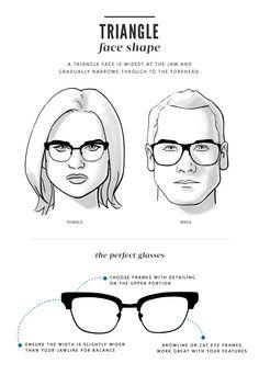 Triangle Face, visage triangle, forme de lunettes adaptée à cette morphologie, conseils en image de soi