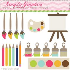 Art Painting Drawing  Digital Clip Art by SimplyGraphicDesign, $5.00