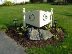 HOUSE NUMBER FROM HEADBOARD, A PINE DOUBLE HEADBOARD TURNED INTO A UNIQUE HOUSE NUMBER SIGN, Gardens Design
