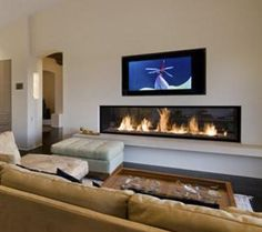 Propane Fireplace at Wilshire Natural Gas Fireplace, Linear Fireplace, Wood Fireplace, Modern Fireplace, Fireplace Design, Fireplace Mantels, Contemporary Fireplaces, Tv Above Fireplace, Propane Fireplace