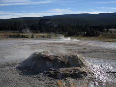 Sponge Geyser, Yellowstone(Спонж гейзер,  Парк Йеллоустоун)