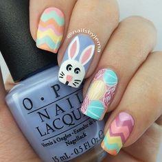 Pastel Nail Design for Easter