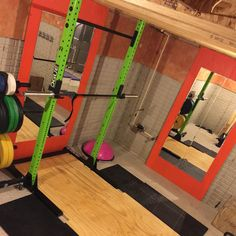 My home gym. Rogue squat stand; Bella bar; plates and paste tree Rogue fitness                                                                                                                                                      More