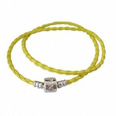 "(1 Buy = 5PCS) 45CM (17.70"") Silver Plated Clasp Yellow Faux Leather Necklace Base Chains, High Quality With Sterling 925 Silver Brightness, Matching Lampwork Murano Glass Beads for European Style Bracelets and Necklaces, Fit Pandora, Troll, Biagi, Caprice, Dione Beads and Charms TAOTAOHAS. $5.99. Specification: Full L=45CM (17.7""); 5g/pc. Unit: Same 5PCS; Packing: In Plastic Bag, Plus FREE Gift if over 2 lots. [From China]: 15-25 days by Standard Shipping OR 7-10 day..."