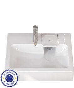 Space saving washbasin flat bathroom sink fits above - Machine a laver sous lavabo ...