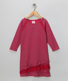 Take a look at this Red Stripe Dress - Girls by S.W.A.K. on #zulily today!