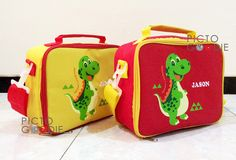 Tas Lunch Bag - Dinosaurus Theme
