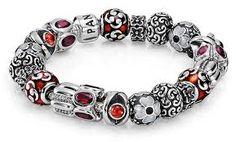 I love the symmetry and restraint of this stylish, decorative Pandora bracelet