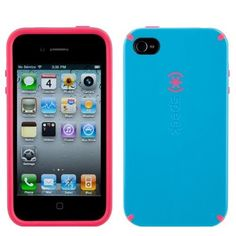 pink and blue iphone speck case