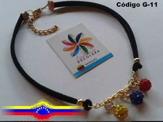 Choker - Gargantilla De Venezuela - Bolas De Fuego - Collar - Bs. 1.250,00 en Mercado Libre