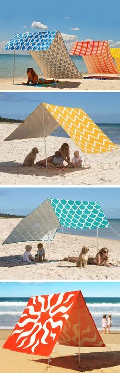 Too much sun? Seek shelter under a vibrant canopy. http://www.thegrommet.com/hollie-and-harrie-sombrilla
