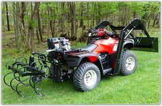 Are you searching for ATV attachments superior to the rest? If you need to dig, lift, plow, drag, push or level our Hydraulic Implement System can do it. Atv Quad, Quito, Atv Implements, Utv Accessories, 4 Wheeler Accessories, Atv Attachments, Atv Trailers, Homestead House, Four Wheelers