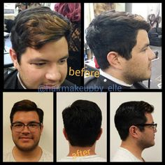 Before and After Gents Haircut #hairmakeupby_elle at JoLsalon - point loma - san diego - liberty station - balayage - highlights - makeup - bridal - wedding - bridesmaids - updo - up-do - mua - sdmua - muasd - hmua - makeup artist - hairstylist - blowdry bar - color - sd - ombre - blonde - brunette - longhair - short - rooty blonde - eyebrows brows - bar - beauty - waxing - mens - womens - grooming - before - after   www.jolsalon.com T619.501.4469