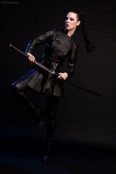 Female swordswoman photoshoot with photographer, Bang Nguyen.