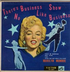 "Marilyn Monroe - ""There's No Business Like Show Business"". Music from the motion picture soundtrack, original vintage 7"" EP single on rare red vinyl, from Japan, 1954."