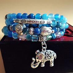 Thailand Honor Shiny Skyblue Gemstone Chain Bracelets