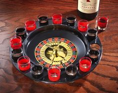 Get Your Friends Drunk with this Roulette Drinking Game Set. Looking for a gift to get your best mate completely smashed? Look no further than this 16 Shot Roulette Drinking Game. Shot Roulette, Roulette Game, Weird Gifts, Unusual Gifts, Drinking Games For 3, Birthday Gag Gifts, Birthday Ideas, Birthday Parties, Casino Party