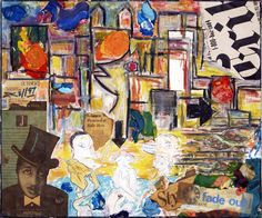 Fade Out, 1989, Collage, mixed media, Cardboard on wood, 49 x 59.5cm (19.29 x 23.43 inch), Private collection. All images are used with the permission by the artist. Re-Pinning is permitted, however, please do not distribute, reproduce, reuse in any shape or form without first contacting the artist. marwan@art-factory.us © Marwan Chamaa.