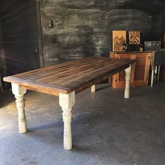 Red Oak Farmhouse Table I Like This One Because The Color Varies And You Can See Individual Board
