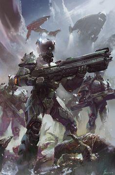 Starship troopers cover book Ignacio Bazan Lazcano http://neisbeis.artstation.com/ http://neisbeis.deviantart.com/ #Ignaciobazanlazcano #thebrushtool #digitalart #cg