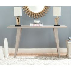 Safavieh Mid-Century Manny Grey Modern Console Table - Free Shipping Today - Overstock.com - 16182009 - Mobile
