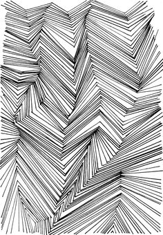 Muster zeichnen ist langweilig. Seht ihr das auch so? Erfahrt wieso das doch nicht so sein muss, sondern sogar ziemlich entspannend sein kann! Hermine on walk | Prints | Structure | monochromatic structure | monochrome Print