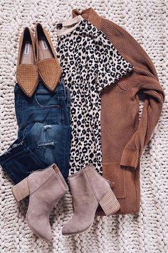 Cheetah Print Outfits, Cheetah Print Shirts, Leopard Outfits, Fall Fashion Outfits, Casual Summer Outfits, Stylish Outfits, Cute Outfits, Girly Outfits, Beautiful Outfits