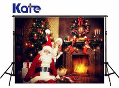 Kate Background Photography Christmas Fireplace Stove Sock Foto Achtergrond Kerst Santa Claus Hat Background For Photo Studio Background For Photography, Photography Backdrops, Photo Backdrops, Christmas Fireplace, Christmas Wreaths, Cheap Backdrop, Family Holiday, Holiday Decor, Christmas Information