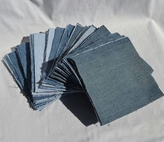 diy denim crafts | DIY Denim Squares for Quilt or other craft by MySweetPotato3