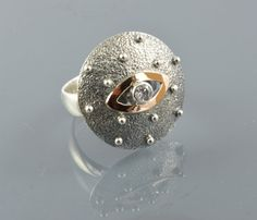 Round ring love ring sterling silver 925 and by Bocisoartjewelry